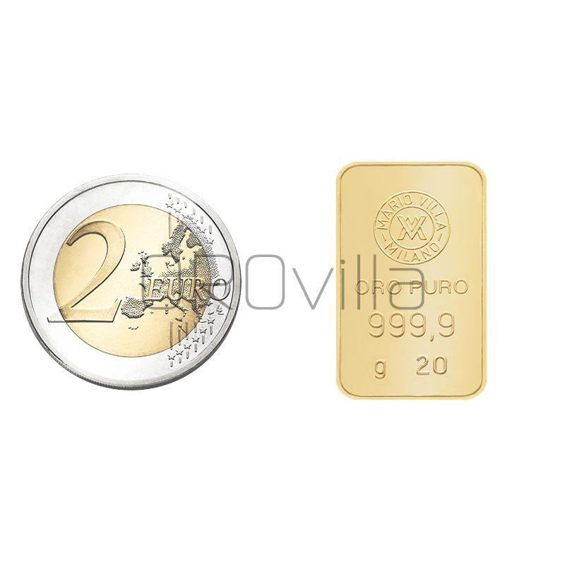 Lingotto oro 20 grammi