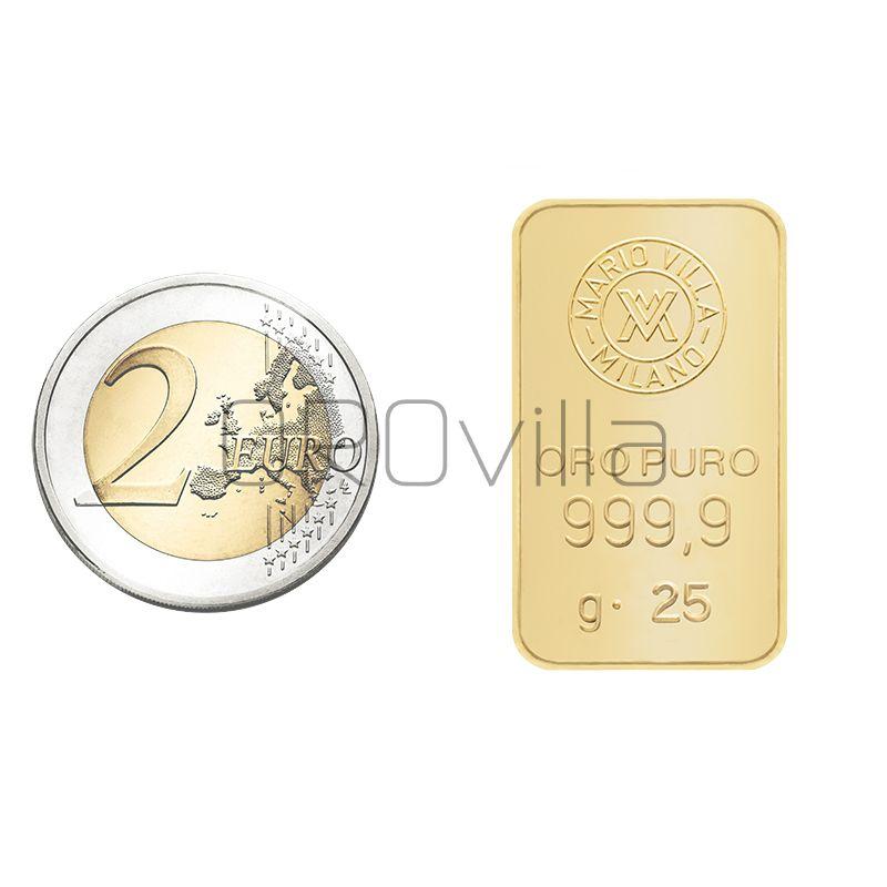 Lingotto oro 25 grammi