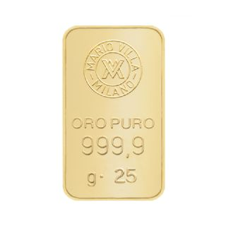 Lingotto oro 25 gr