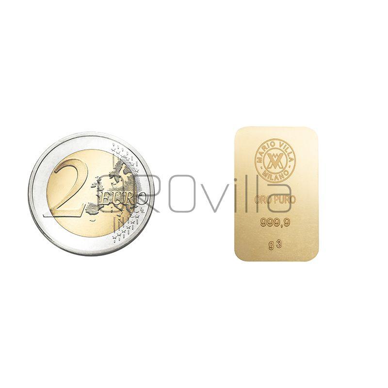 Lingotto oro 3 gr