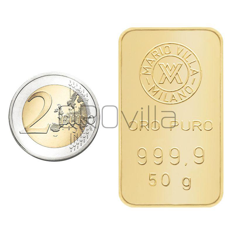Lingotto oro 50 grammi