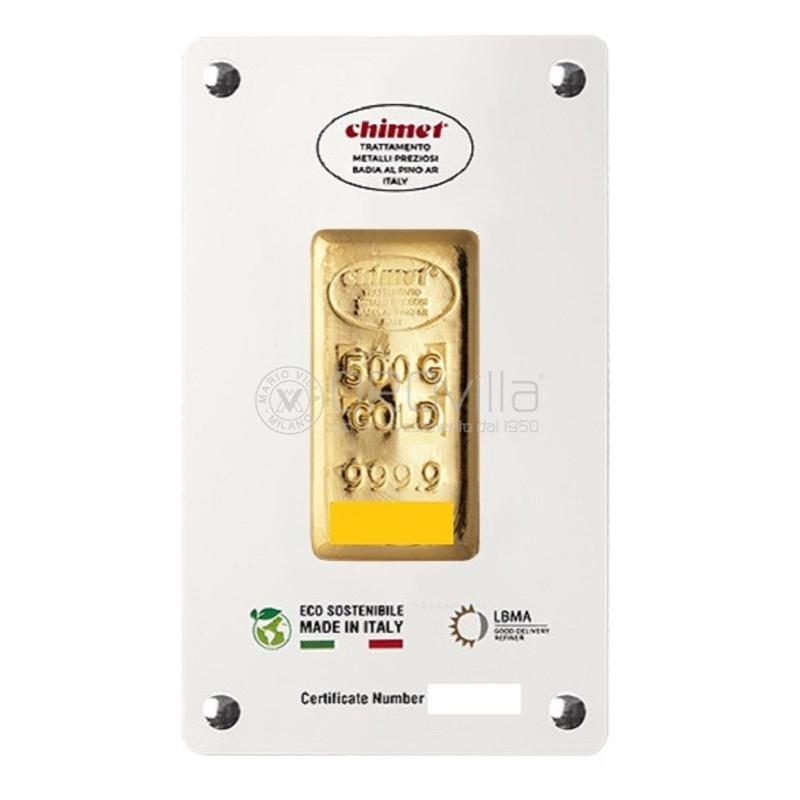 Lingotto oro 500 gr LBMA Chimet