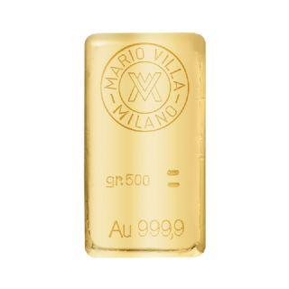 Lingotto oro fuso 500 gr