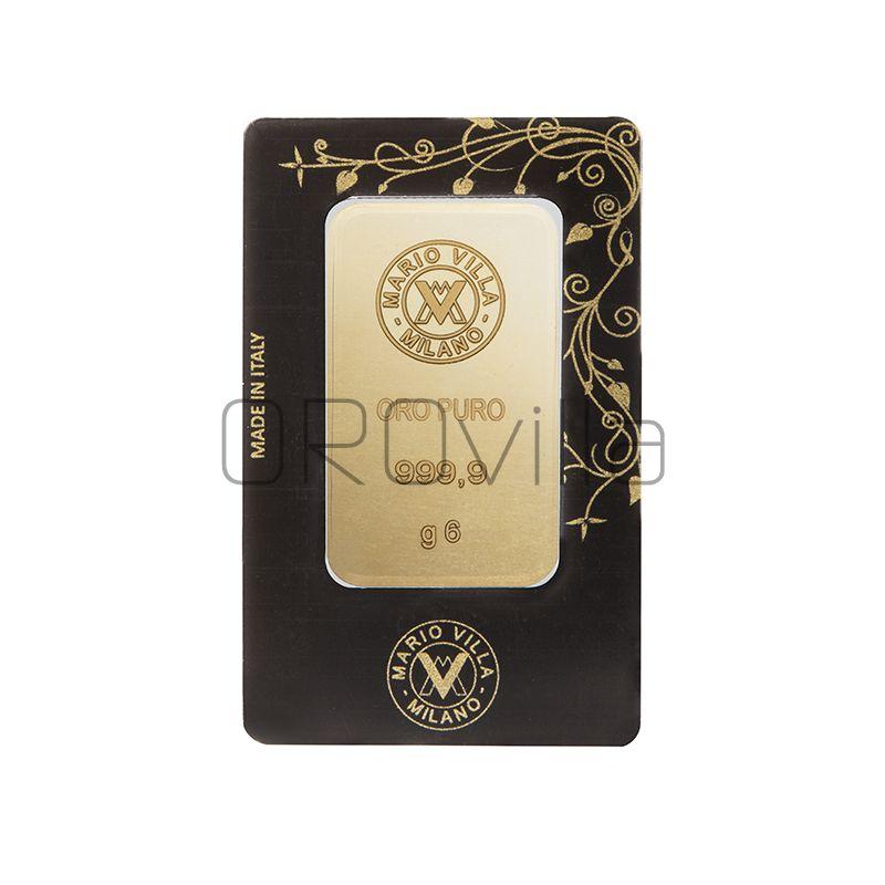 Lingotto oro blister 6 gr fronte