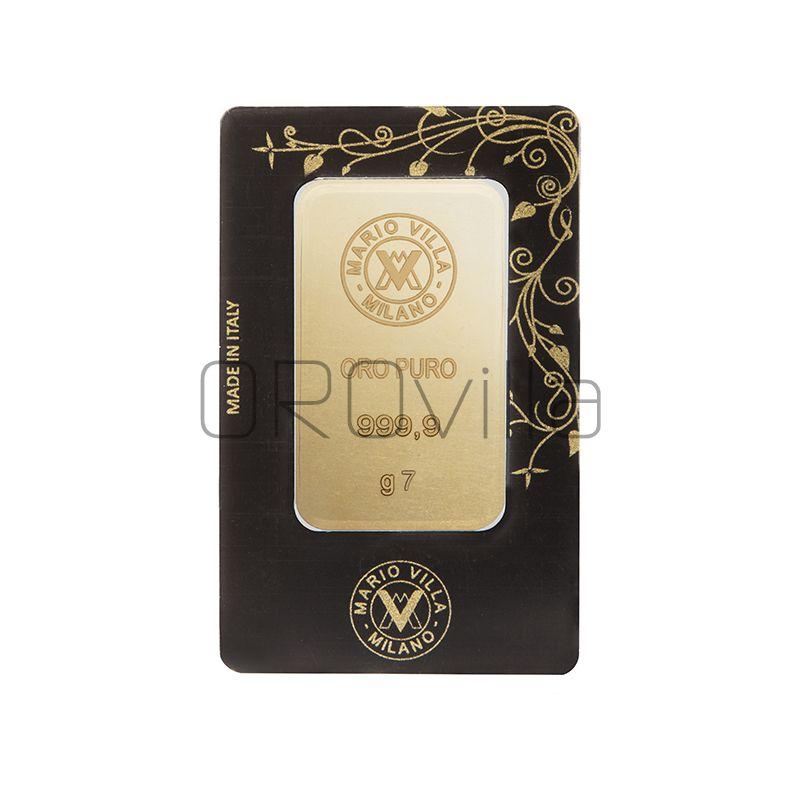 Lingotto oro blister 7 gr fronte