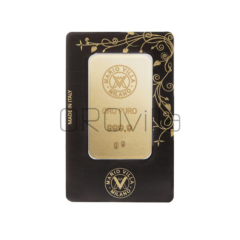 Lingotto oro blister 9 gr fronte