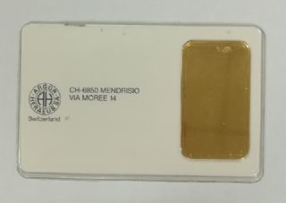Lingotto oro da 1 oncia Argor-Heraeus