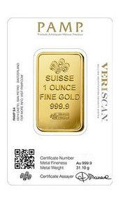 Lingotto oro da 1oz | PAMP Fortuna