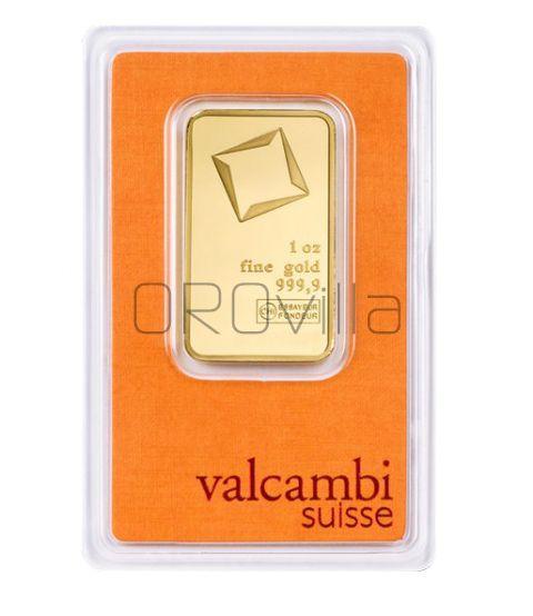 Lingotto oro da 31,10 grammi Valcambi