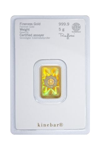 Lingotto oro da 5 grammi Heraeus Kinebar®