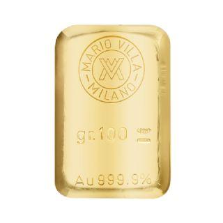 Lingotto oro fuso 100 gr