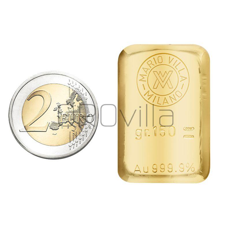 Lingotto oro fuso 150 grammi
