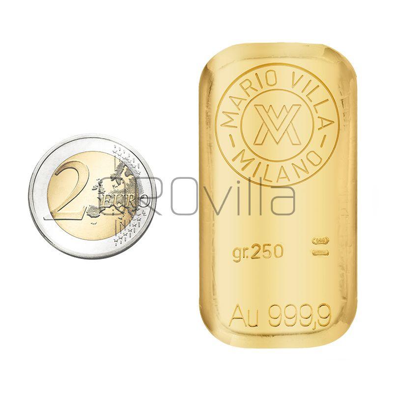 Lingotto oro fuso 250 grammi