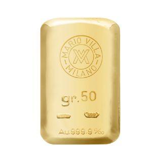 Lingotto oro fuso 50 gr