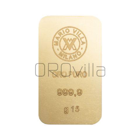 Lingotto oro 15 gr formato grande