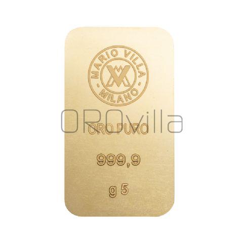 Lingotto oro 5 gr formato grande