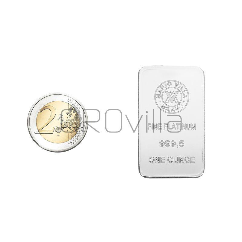 Lingotto platino 1 oncia