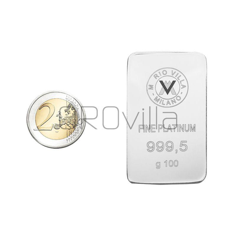 Lingotto platino 100 gr