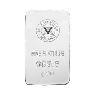 Lingotto laserato in platino 100 grammi