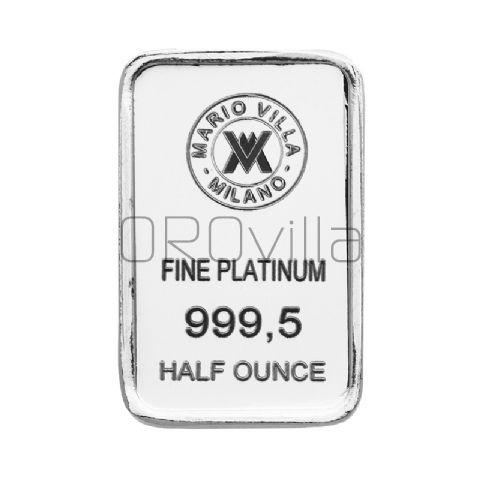 Lingotto platino 1/2 oncia