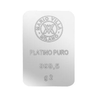 Lingotto platino 2 gr