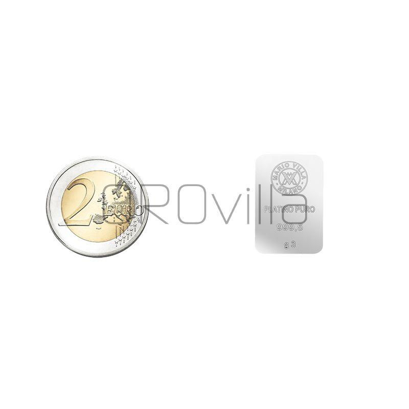 Lingotto platino 3 gr