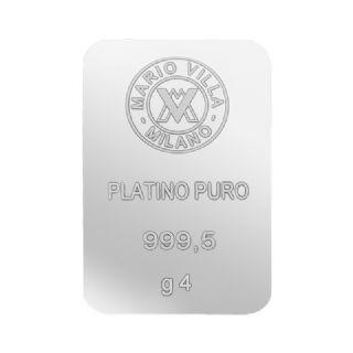 Lingotto platino 4 gr