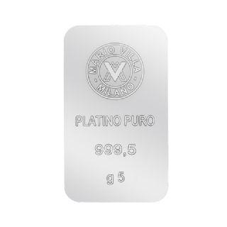 Lingotto platino 5 gr
