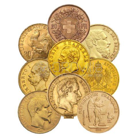 Marengo 20 Franchi/Lire di anni e paesi misti
