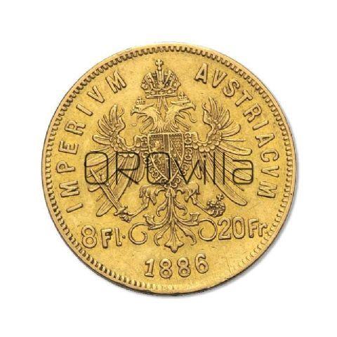 Marengo austriaco 8 Fiorini - 20 Franchi  (anni misti)
