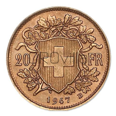 Marengo svizzero 20 Franchi (anni misti)
