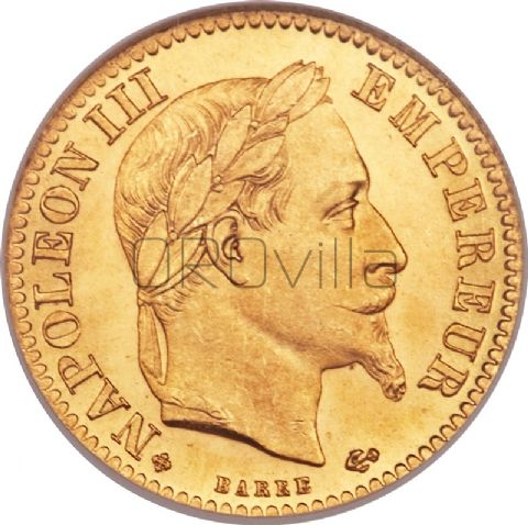 Mezzo marengo 10 Franchi Napoleone III