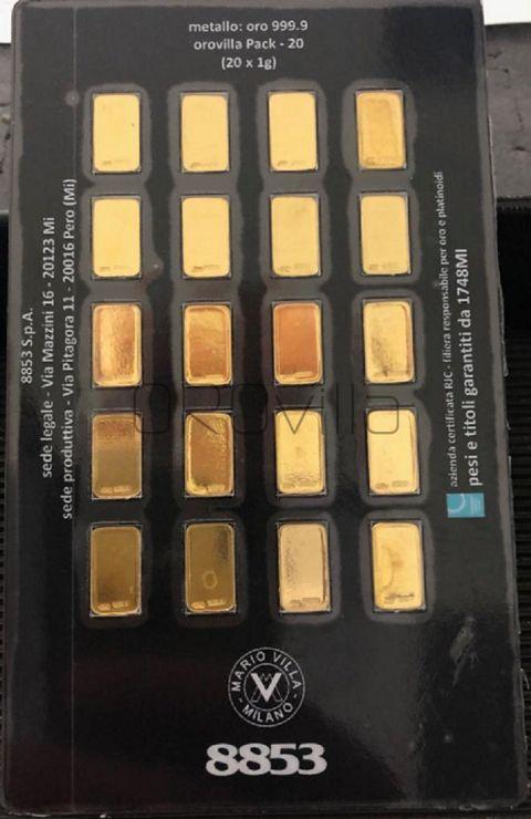 MVPack: 20 grammi di ORO PURO 999,9 in lingotti da 1 grammo