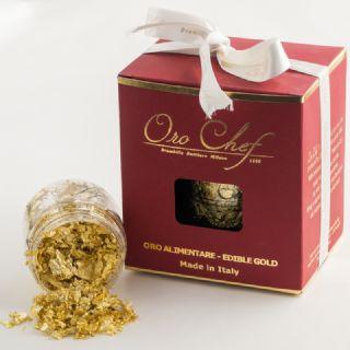 Oro alimentare in scaglie - formato 0,5 gr