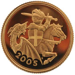 Sterlina d'oro Elisabetta II 2005