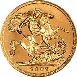 Sterlina d'oro Elisabetta II 2007