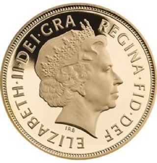 Sterlina d'oro Elisabetta II 2009
