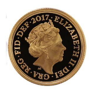 Sterlina d'oro Elisabetta II 2017 con Giarrettiera in confezione originale