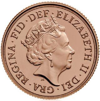 Sterlina d'oro Elisabetta II 2018