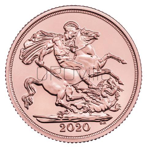 Sterlina d'oro Elisabetta II 2020