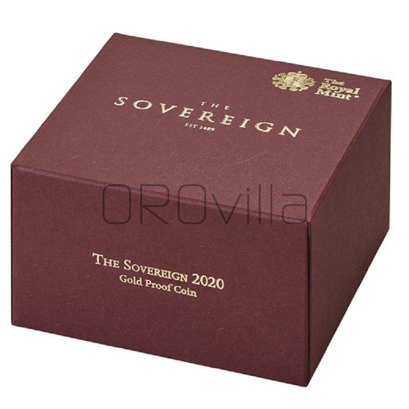 Sterlina d'oro Elisabetta II 2020 in confezione originale