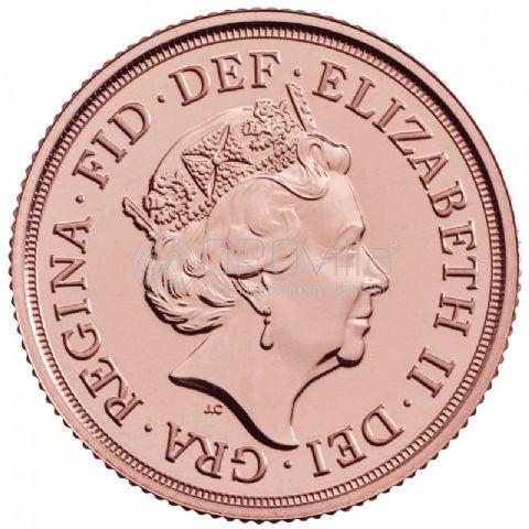 Sterlina d'oro Elisabetta II 2021