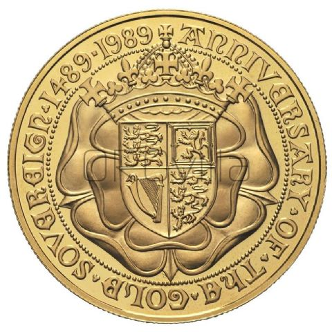 Sterlina d'oro Elisabetta II 1989