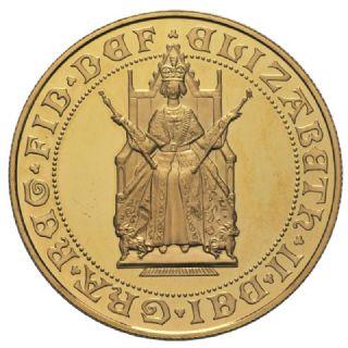 Sterlina d'oro Elisabetta II 1989 in confezione originale