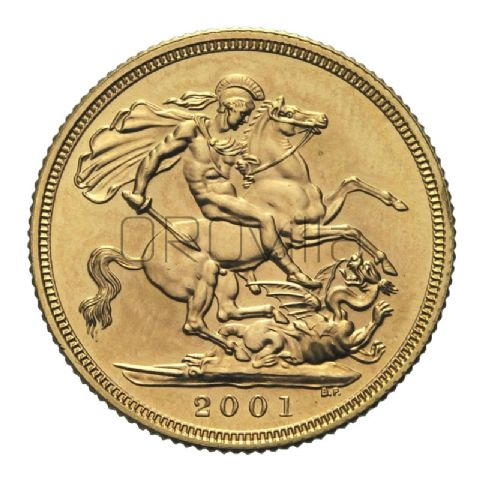 Sterlina oro Elisabetta II 2001