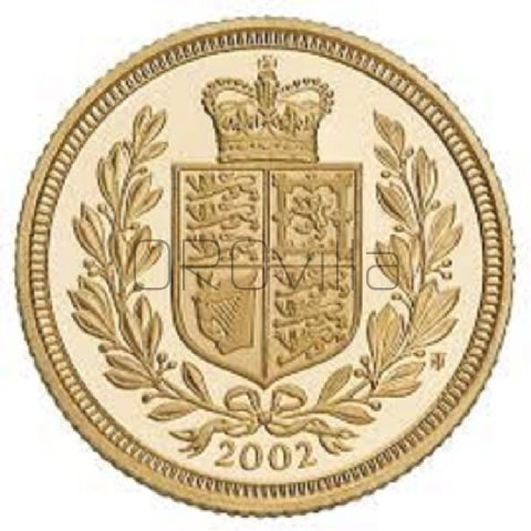 Sterlina oro Elisabetta II 2002