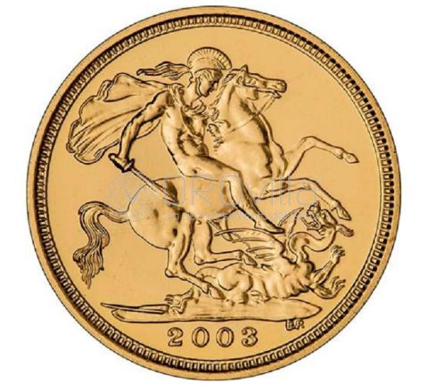Sterlina oro Elisabetta II 2003
