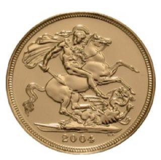 Sterlina d'oro Elisabetta II 2004