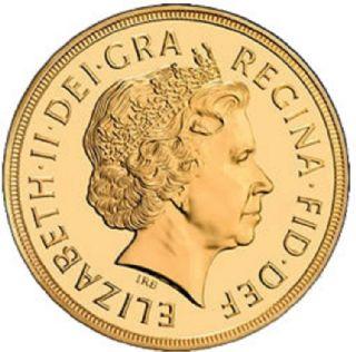 Sterlina d'oro Elisabetta II 2008
