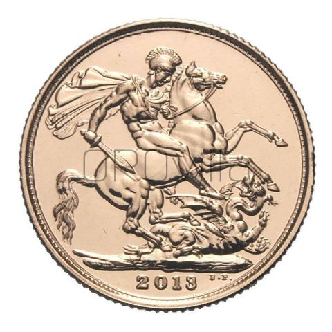 Sterlina d'oro Elisabetta II 2013